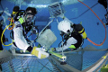 Astronaut traning at ESAs Neutral Buoyancy Facility in Cologne, Germany. 